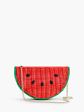 Wicker Watermelon Crossbody Bag