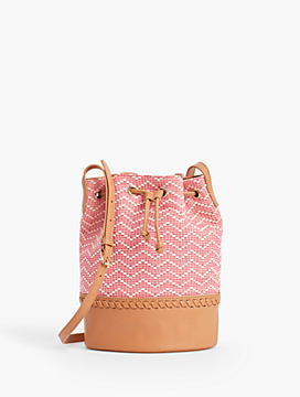 Chevron Texture Bucket Bag