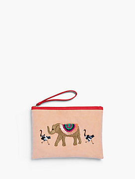 Embellished Elephant Novelty Pouch
