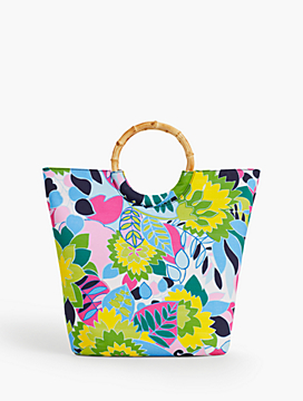 Bamboo-Handled Tote