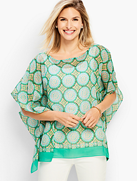 Modern Medallion Blocks Poncho