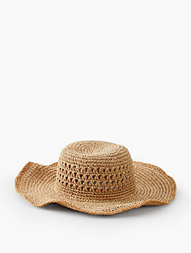 Paper Straw Wide-Brim Sun Hat