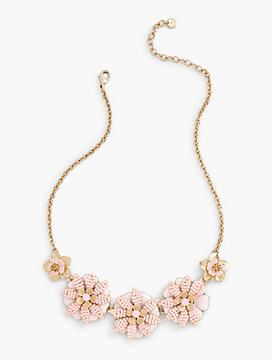 Tropical Blossoms Statement Necklace