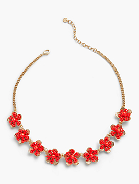 Textured Petals Flower Necklace