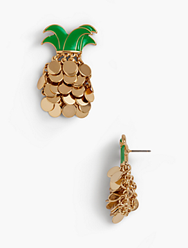 Pineapple Coin Earrings