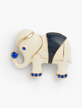 Bejeweled Elephant Brooch