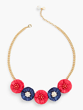 Raffia Bursts Statement Necklace