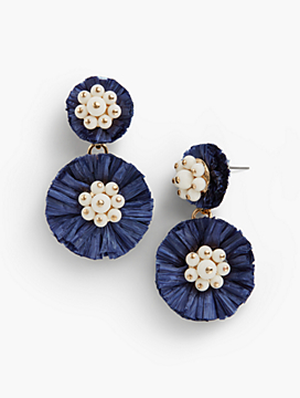 Raffia Bursts Statement Drop Earrings