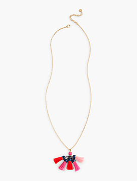 Threads & Beads Multi-Tassel Pendant Necklace