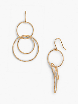 Interlocking Hoop Drop Earrings