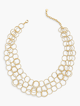 Metallic Rings Necklace
