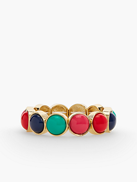 Colorful Cabochon Stretch Bracelet