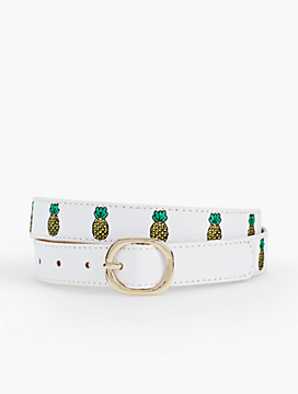 Pineapple Embroidered Belt