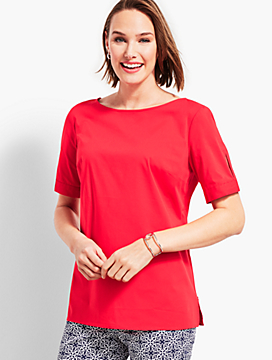 Belle Ballet-Neck Top