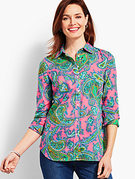 Cocktail Paisley Print Long Sleeve Shirt