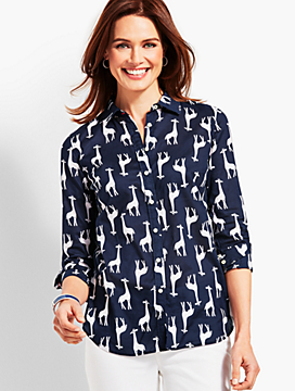 The Classic Casual Shirt - Tossed Giraffes