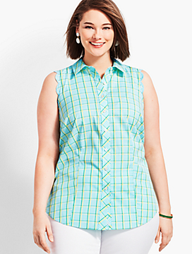 Scallop Shirt-Island Check