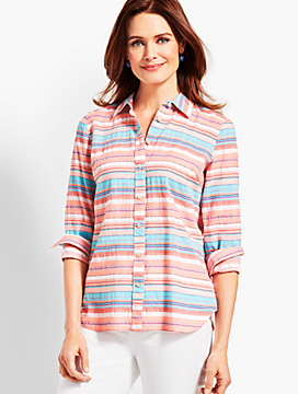 The Classic Casual Shirt - Sunset Stripe