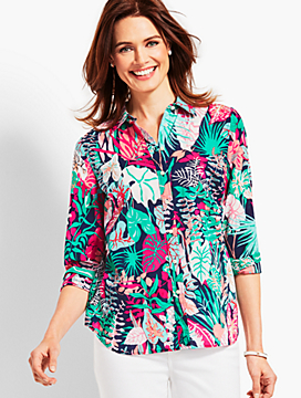 The Classic Casual Shirt - Jungle Botanical