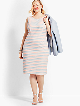 Striped Biscay Sheath Dress