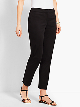 Textured Sateen Ankle Pant