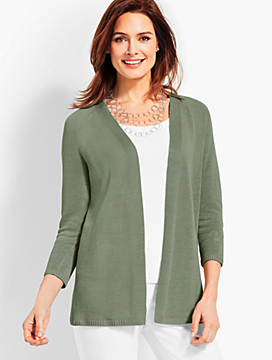 No-Close Linen Cardigan