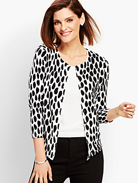 Charming Cardigan - Cheetah Print