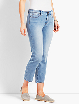 Denim Straight Leg Crop-Jax Wash