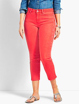 Garment Dyed Denim Straight Crop- Curvy Fit