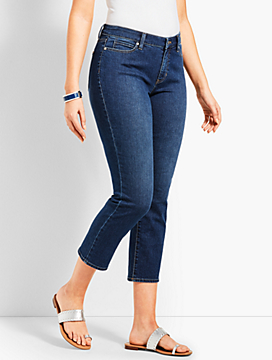 Denim Straight Leg Crop - Curvy Fit/Decker Wash