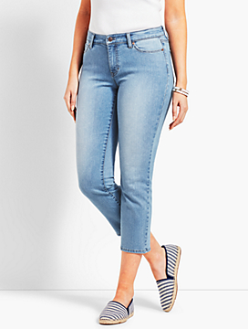 Denim Straight Leg Crop - Curvy Fit/Jax Wash