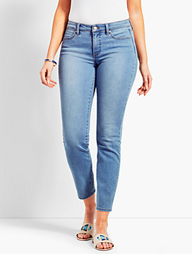 Beach Glasss Denim Slim Ankle Jean - Curvy Fit/Beach Glass