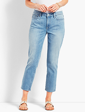 Easy High-Rise Straight Leg Crop Jean