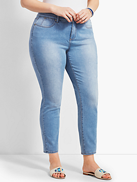 Womans Exclusive Denim Slim Ankle Jean - Beach Glass