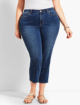 Womans Exclusive Denim Straight Leg Crop - Curvy Fit/Decker Wash