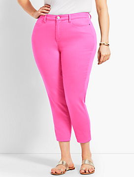 Plus Size Exclusive Colored Denim Crop Jegging - Curvy Fit