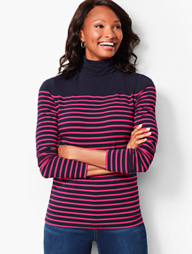 Princeton Stripe Turtleneck - Breton Stripe