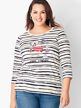 Stripe Destination Tee