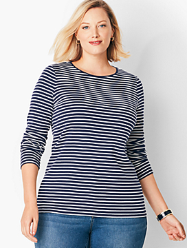 Novelty Long-Sleeve Crewneck - Stripe