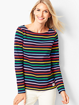 Authentic Talbots Tee - Norwood Stripe