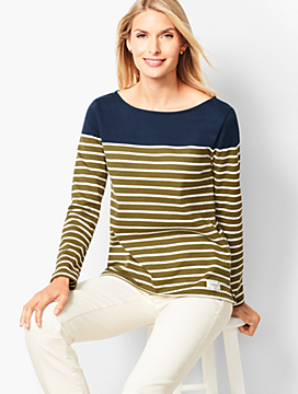 Authentic Talbots Tee - Colorblock Stripe