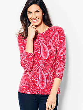 Novelty Long-Sleeve Crewneck - Cocktail Paisley