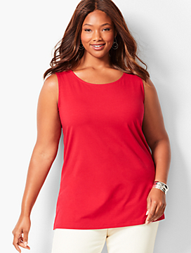 Plus Size Tunic Layering Tank Top