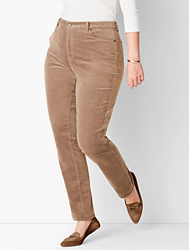 High-Rise Straight-Leg Pant - Cords