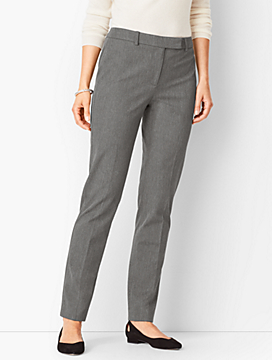 Bi-Stretch High-Waist Straight-Leg Pant - Melange