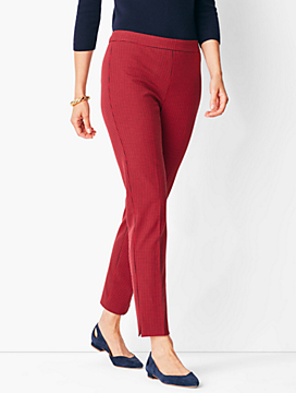 Talbots Chatham Ankle Pants - Mini Check