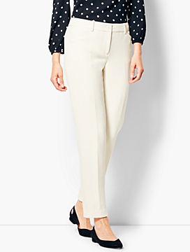 Talbots Hampshire Ankle Pant - Lined Ivory