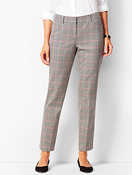 Talbots Hampshire Ankle Pants -  Cottage Plaid