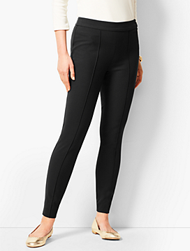 High-Waist Bi-Stretch Skinny Ankle Pants