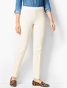 Talbots Chatham Button Ankle Pant - Curvy Fit